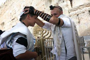 A Bar Mitzvah at the Western Wall. aliyah to the torah Jerusalem Israel